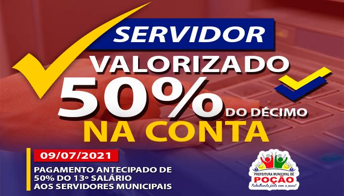 Prefeitura antecipa o pagamento de 50% do 13º dos Funcionários Municipais!