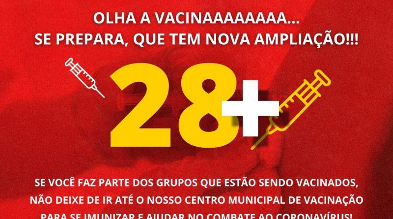 Olha a Vacinaaa, Se prepara que tem nova ampliação!!!