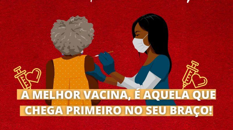 A melhor vacina é aquela que chega primeiro no seu braço!
