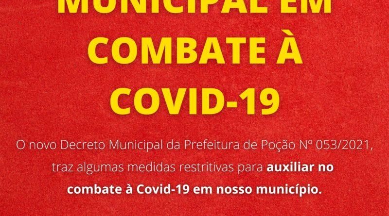 Medidas Restritivas novo Decreto Municipal