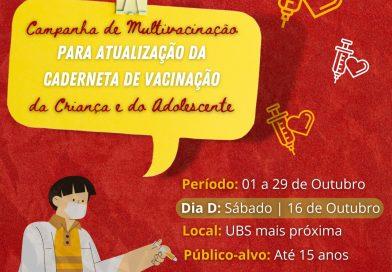 Campanha de Multivacinação para Atualização da Caderneta da Criança e do Adolescente